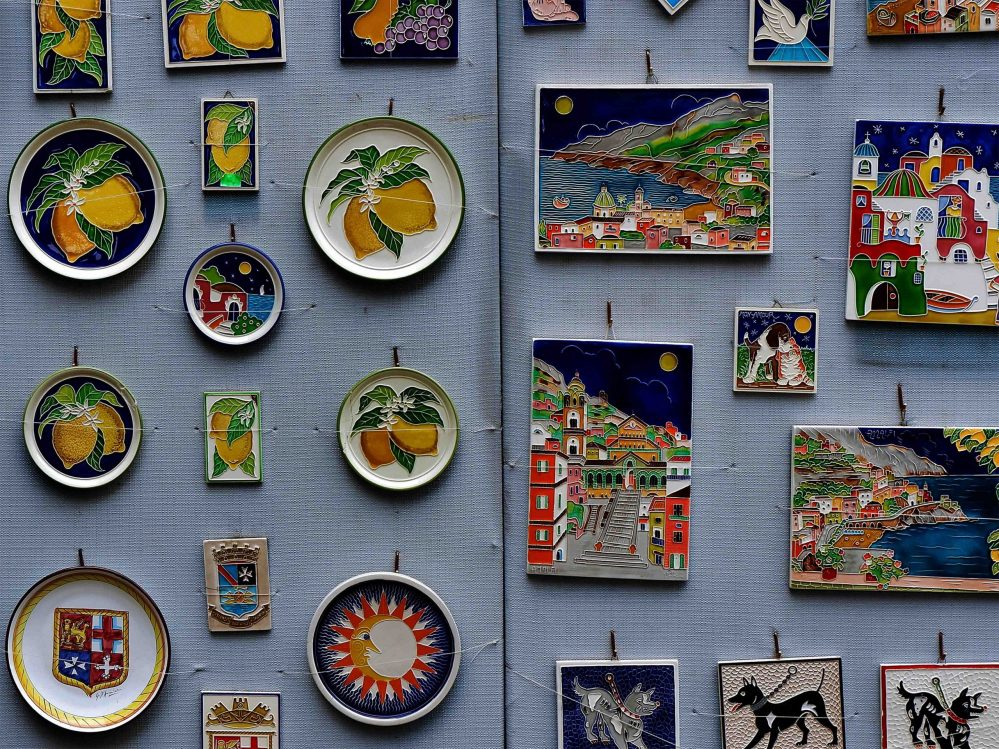 Pottery art in Positano