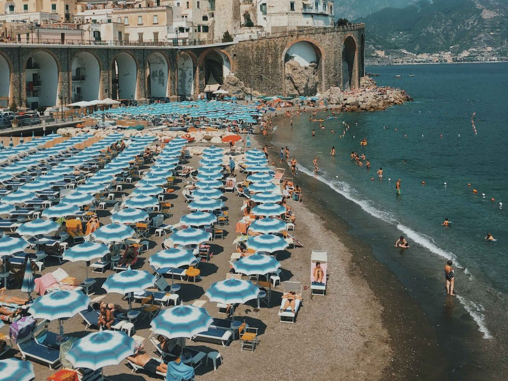 The beach of Amalfi