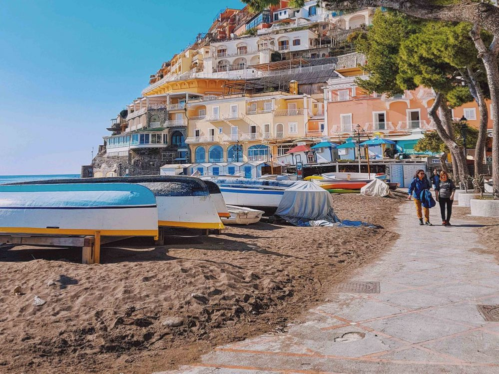 The beach of Positano in winter