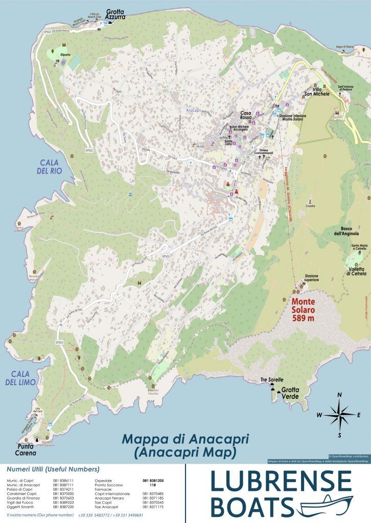 Mappa di Anacapri